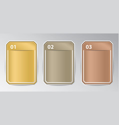 infographic rectangle badges with number vector image
