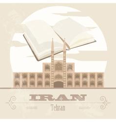 Iran Retro styled image V vector