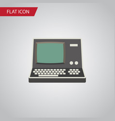 isolated vintage computing flat icon technology vector image