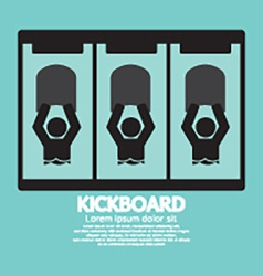 Kick Board Black Symbol vector