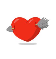 love arrow flat style design vector image
