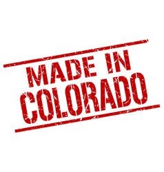 Made in colorado stamp vector