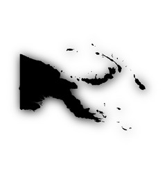 Map of papua new guinea with shadow vector