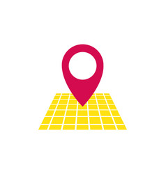 map pointer icon symbol of navigation location vector image