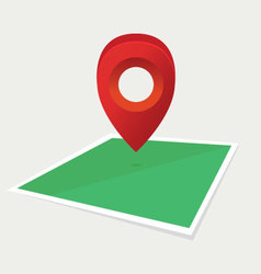 map pointer on ground vector image