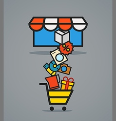 Modern web commerce scheme vector image