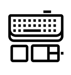 mouse and keyboard icon vector image