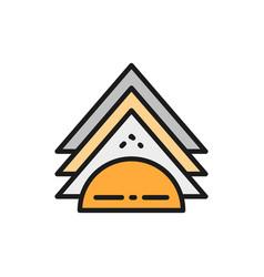 Napkin holder flat color line icon vector