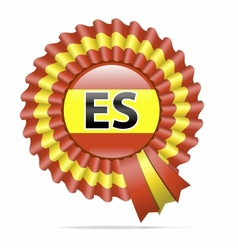National flag badge ES vector