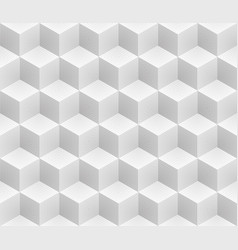 neutral gray cubes isometric seamless pattern vector image