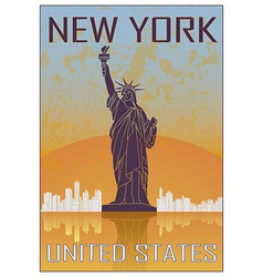 New York vintage poster vector