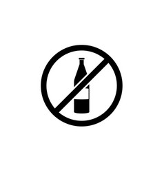 no alcohol sign icon element of travel icon for vector image