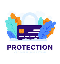 padlock with credit card stock isolated on a vector image