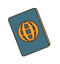 passport document isolated icon vector image