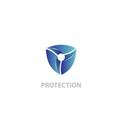 protection shield logo vector image