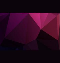 purple triangle polygonal geometric design vector image