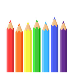 rainbow of colored pencils vector image