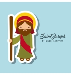 Saint joseph sticker vector