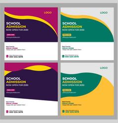 School admission social media post vector