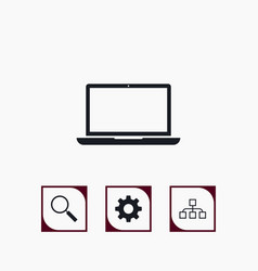 set business icons simple marketing elements vector image