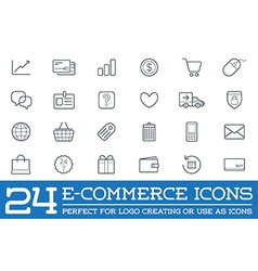 Set of E-Commerce Icons Shopping and Online can be vector image