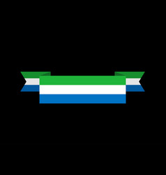 Sierra leone flag ribbon isolated republic tape vector