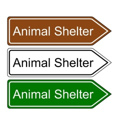 Sign animal shelter vector