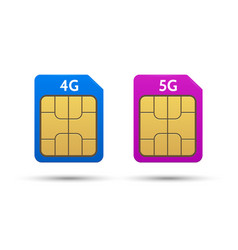 Sim cards 4g and 5g vector