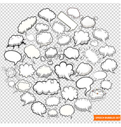speech bubbles isolated on transparent background vector image