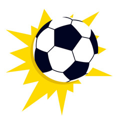 star soccer ball icon flat style vector image