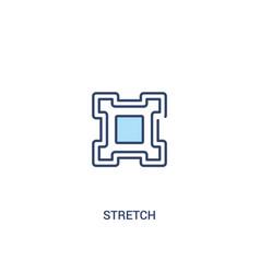 Stretch concept 2 colored icon simple line vector
