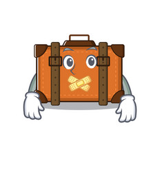 Suitcase with in cartoon silent shape vector