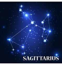 Symbol Sagittarius Zodiac Sing vector image