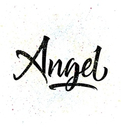 angels hand lettering calligraphy vector images over 120
