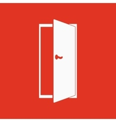 The door icon Exit and login symbol Flat vector image