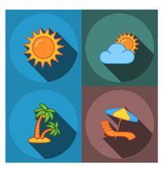 Travel company icons vector