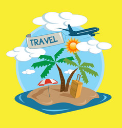 travel tropical island design vector image
