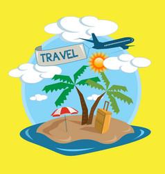 Travel tropical island design vector