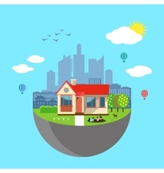 Urban home earth concept vector image