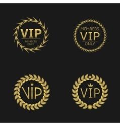 VIP Laurel wreaths vector