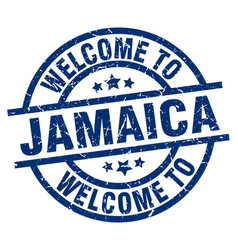 Welcome to jamaica blue stamp vector