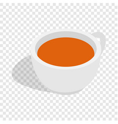 white cup of tea isometric icon vector image