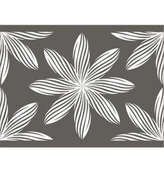 White flower pattern vector