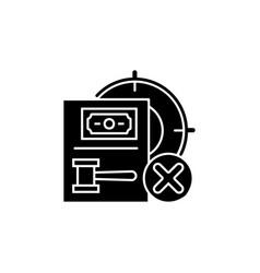 Wildlife protection black glyph icon vector