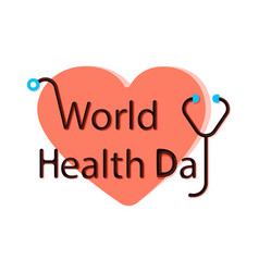 world health day idea campaign concept vector image