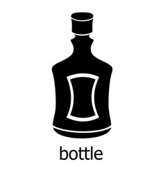 alcohol bottle icon simple black style vector image