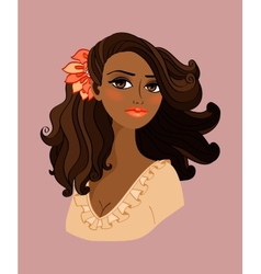 Black woman portrait vector image
