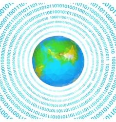 digital earth vector image