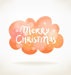 Merry Christmas colorful cloud card vector image vector image
