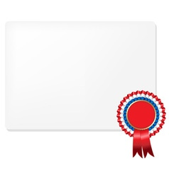 Rosette Certificate vector image vector image